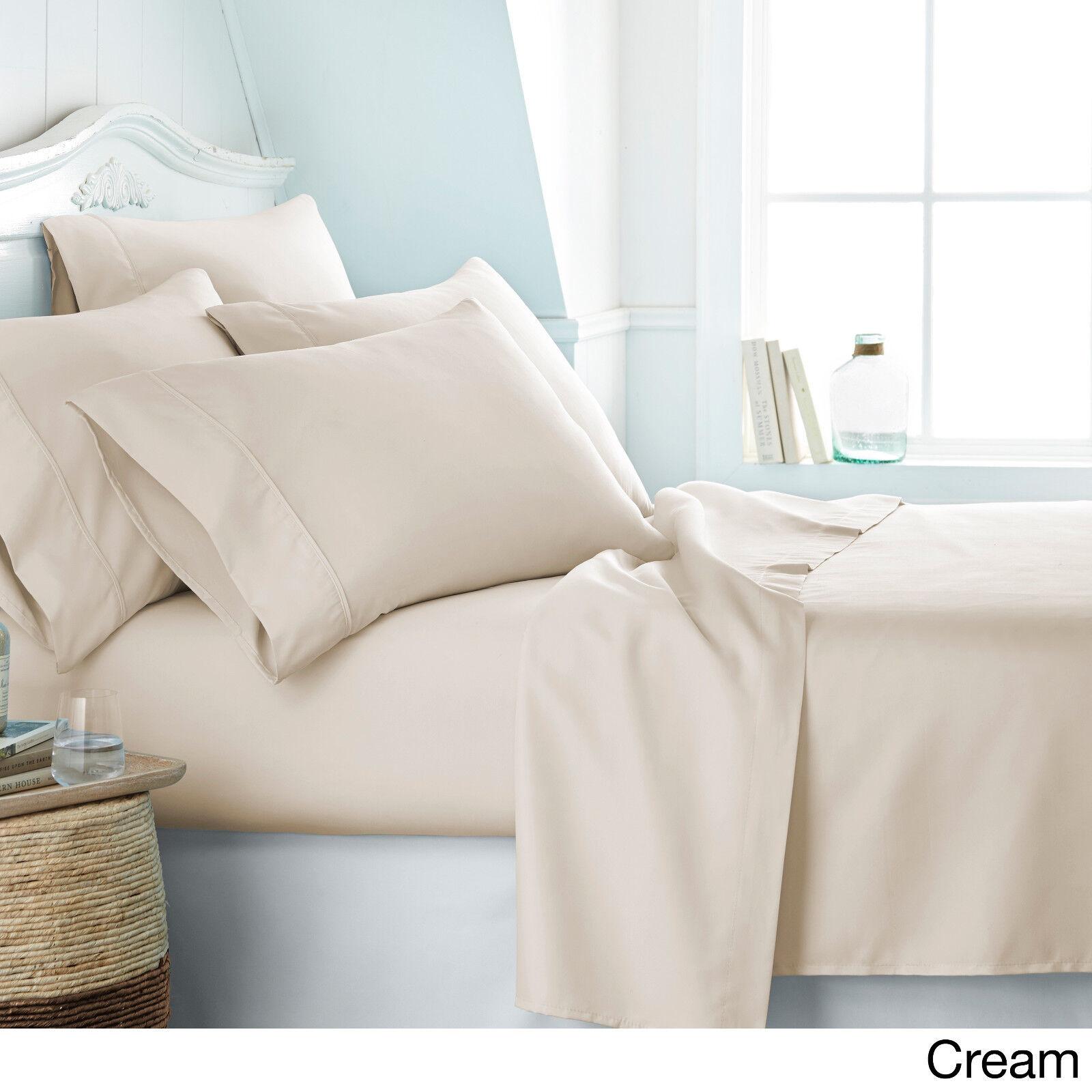6 pc deep pocket super soft queen king cal king size. Black Bedroom Furniture Sets. Home Design Ideas