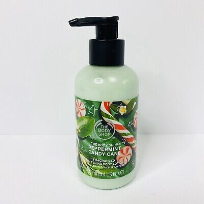 The Body Shop Peppermint Candy Cane Body Lotion Holiday Christmas Scent 250 ml ()