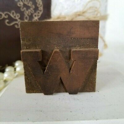 Printers Block Letter W Letterpress Wood Type Typography