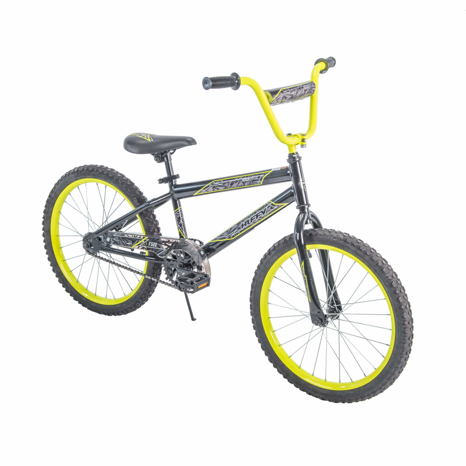 4df7146e6aa Rock It Boys' Bike Metallic Black with Neon Yellow Accents 20