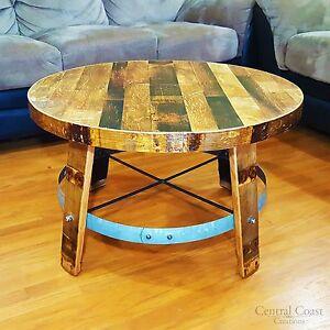 wood barrel furniture. WINE BARREL Head CENTER Coffee TABLE Home Rustic Furniture Side End Wood Barrel O