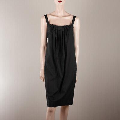 BCBGMAXAZRIA Ladies Dress M 38 Black Dots Egg Shape Strap Designer Casual
