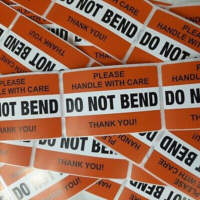 Do Not Bend Handle With Care Orange Stickers 2 X 3 Pack Of 50 Not On Roll