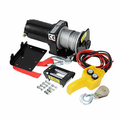 2000lbs Electric Recovery Winch Kit ATV Trailer Truck Car DC 12V Remote Control
