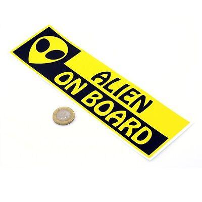 Alien On Board Funny Car Window Bumper Laptop Sticker Paul Movie Vinyl Decal