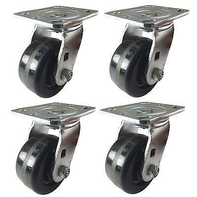 4 X 2 Heavy Duty Phenolic Wheel Caster - 4 Swivels