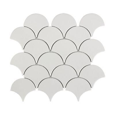 Modern Circular White Porcelain Mosaic Tile Backsplash Kitchen Wall MTO0341
