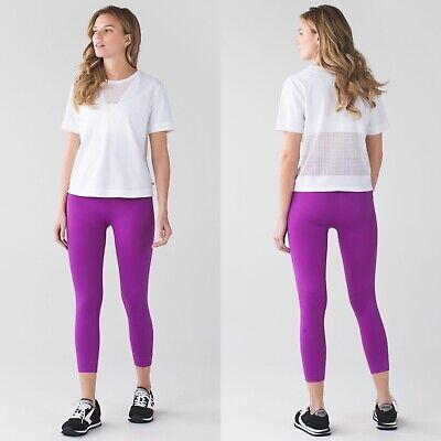 Lululemon Zone In Crop Legging Size 6 Tender Violet Purple Seamless Yoga Stretch