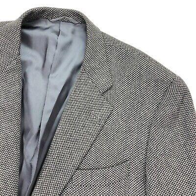 Hickey Freeman Men's Thick Tweed Wool Blazer Gray • 44 R