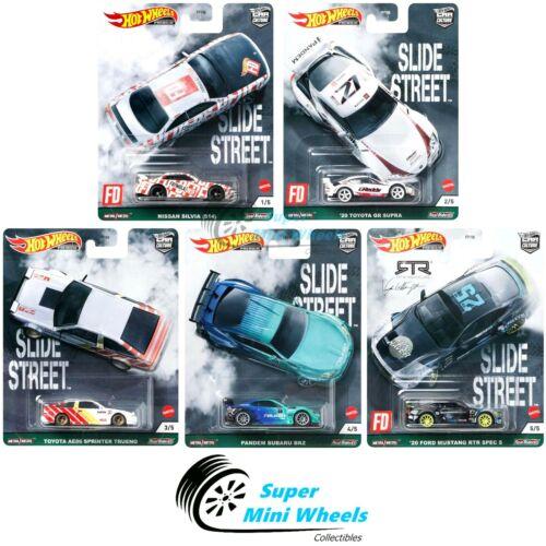 Hot Wheels Premium 2021 Car Culture E Case Slide Street Set of 5 Cars  Pre-Order
