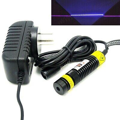 405nm 200mw Violetblue Line Focusable Laser Diode Module 16x68mm 5v Adapter