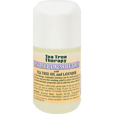 Tea Tree Therapy Antiseptic Solution Tea Tree Oil and Lavender, 4 Fluid Ounce
