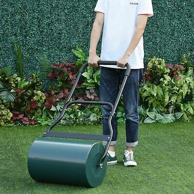 Lawn Roller Grass Ground Garden Push / Tow Landscaping Erasing Sod Steel Green