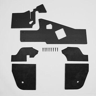 Mopar A Body 67-72 BLACK NON AC Firewall & Kickpanel Insulation Dart Duster DMT