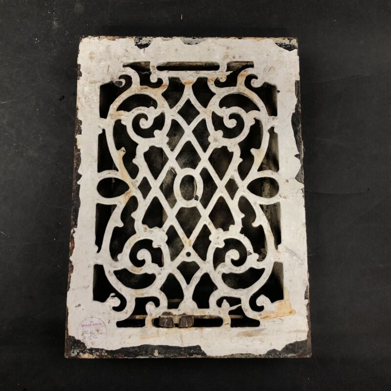 Antique Cast Iron Renaissance Floor Grate Vent