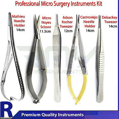 5pcs Set Dental Surgical Soft Tissue Implant Sinus Micro Surgery Instruments Kit