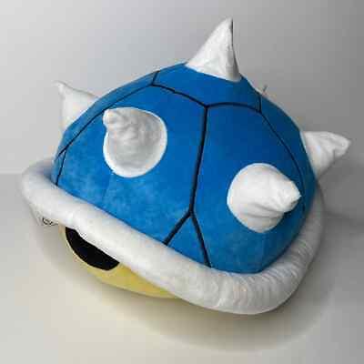 Super Mario Kart Decorative Pillow Blue Yellow Spike Shell Plush Koopa Bowser
