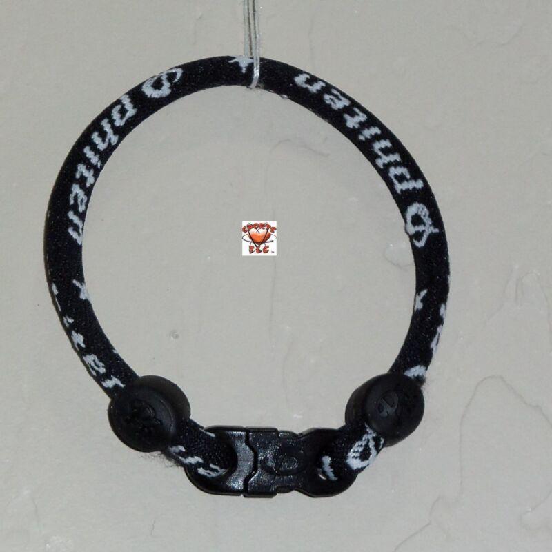 Phiten Custom Bracelet - Black with Black Clasp/Black Grommets