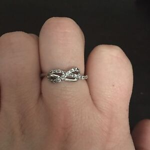 Infinity Ring - 10k White Gold