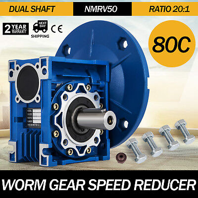 1 Set Nmrv050 Worm Gear Speed Reducer Ratio 201 Double Out Shaft Good Pro