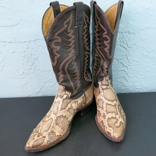 Justin, Mens, 8621, Python, Distressed, Snakeskin, Leather, Western, Cowboy, Boots, 9D