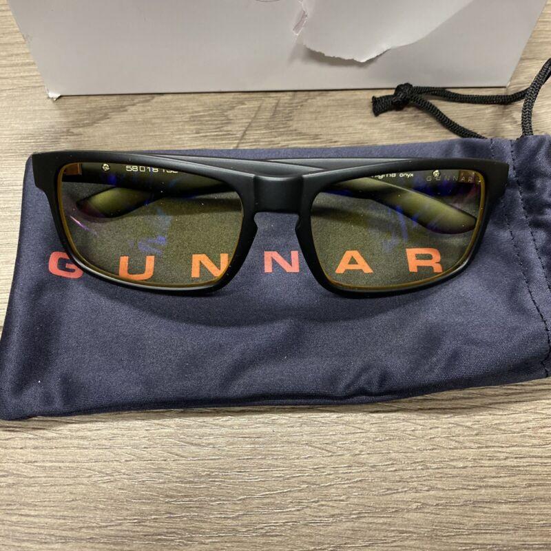 Gunnar Riot Onyx Blue Light Gaming Glasses FREE SHIPPING! (A)