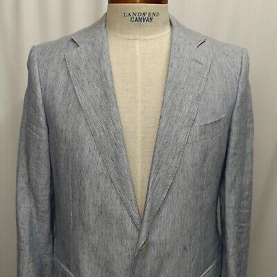 Facconable Caruso EU 52 50 US 40 Made in Italy Linen Jacket Blazer Sport Coat