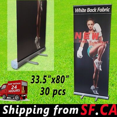 30 Pack33.5x80standard Aluminum Retractable Roll Up Banner Trade Show Stand
