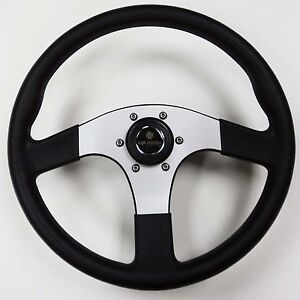 New-OEM-Gussi-Boat-Steering-Wheel-M23-Black-Plastic-Aluminum