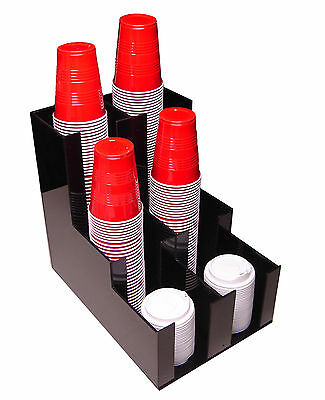 Wide Soda Cup Office Lid Dispenser Holder Rack Condiment Caddy Organize Caddy