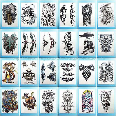 24 sheets/lot extra large arm tattoo temporary Body Art punk