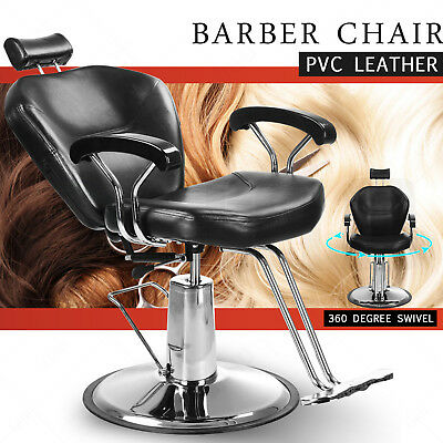 Adjustable Reclining Leather Barber Chair Shampoo Beauty Spa Hairdressing Salon