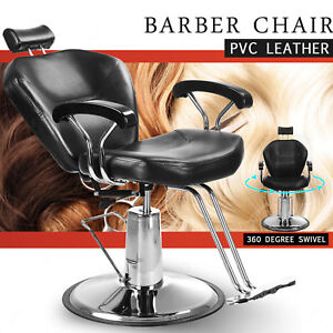 Reclining Leather Barber Chair Shampoo Hairdressing Salon Furniture Equipment