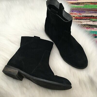 Seychelles Womens Suede Slouch Ankle Boots Booties US 6.5 Black Anthropologie