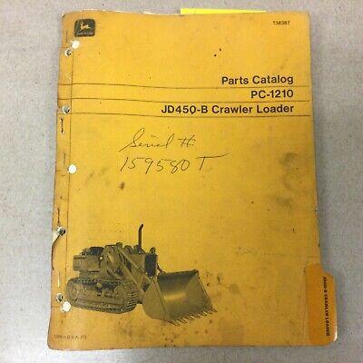 John Deere 450b Parts Manual Catalog Book Crawler Bulldozer Tractor Guide Pc1210
