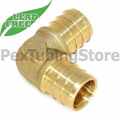 100 12 Pex Elbows - Brass Crimp Fittings Lead-free