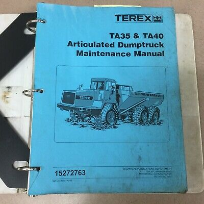 Terex Ta35 Ta40 Maintenance Service Shop Manual Dump Articulated Truck 15272763