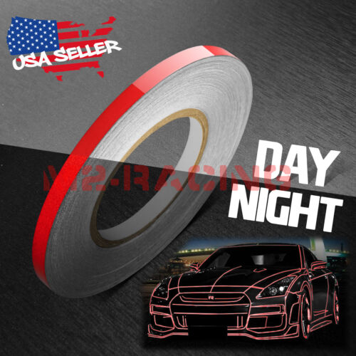 Red Reflective Tape Safety Self Adhesive Striping Sticker 15