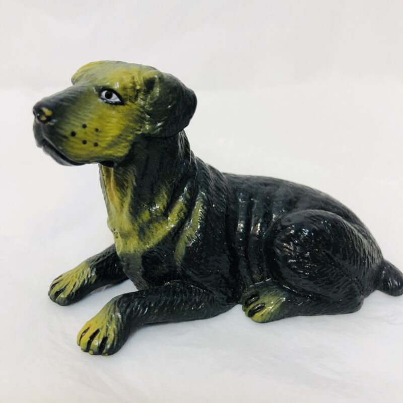 """Vintage New-Ray Soft Rubber Rottweiler Dog Toy Figure 2"""" Tall"""