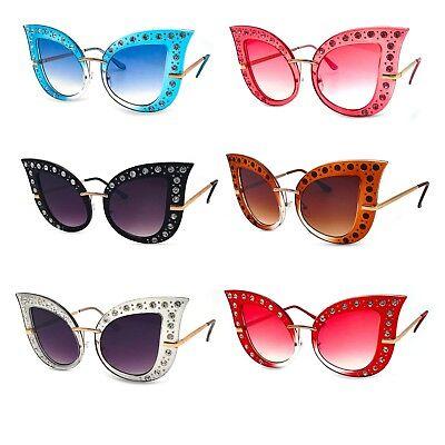 Oversized Cat Eye Rhinestone Sunglasses (Rhinestone Cat Eye Sunglasses)