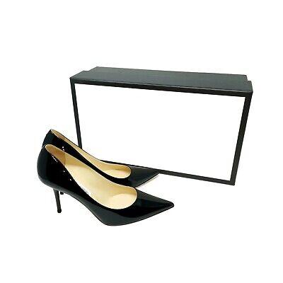 Jimmy Choo Agnes Black Patent Leather ~ UK 5 / EU 38 / US 8