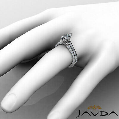 Micro Pave Set Marquise Diamond Engagement Ring GIA Certified I Color SI1 2 Ct 3