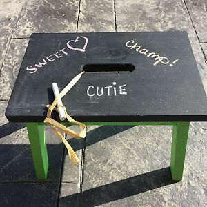 Children's Handpainted Chalboard Step Stool