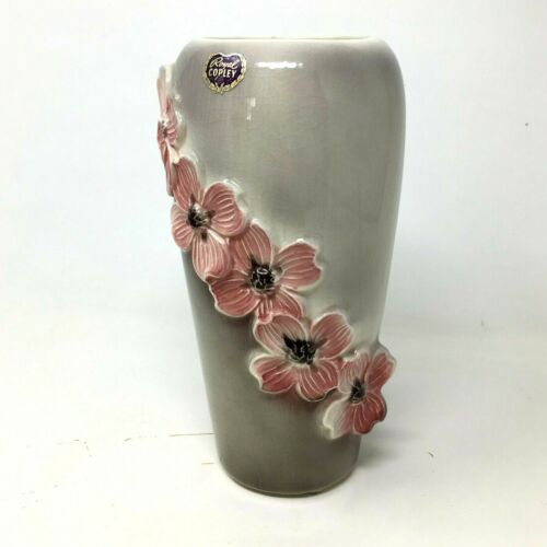 Vintage Royal Copley Ceramic Dogwood Flower Vase