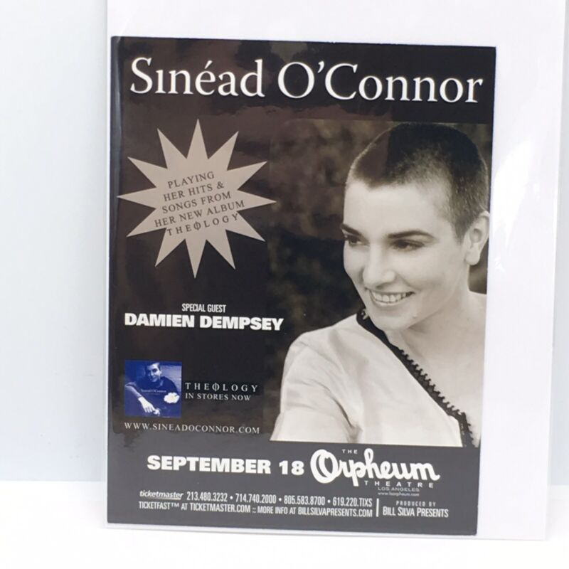 Sinead O'Connor Promo Handbill September 18 Orpheum Theatre With Damien Dempsey
