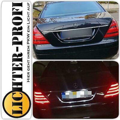 Mercedes Benz S-Klasse W221 LED Rückleuchten rot schwarz LED Lauflichtblinker!