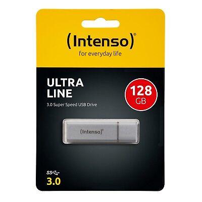Intenso USB Stick 128GB Ultra Line Highspeed USB 3.0 Alu silber 128 GB OVP