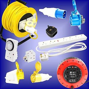 Electrical-Plug-Socket-Lead-Adaptor-Extension-Cable-Reel-16a-32a-110v-240v-230v