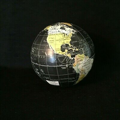Paper Mache Planets (Paper Mache Style Globe Ornament Decor Planet Earth Black Oceans Continents)