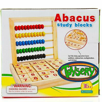 Abacus Study Block Toyserys - Promote Learning - 50 Beads and 30 Blocks Wood